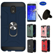 Samsung Galaxy J7 2018/Refine Ring Stand Case Cover+Screen Protector+Car Holder