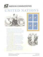#463 32c United Nations #2974 USPS Commemorative Stamp Panel