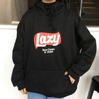 Girls Ulzzang Harajuku Korean Womens Hoodie Coat Jacket Lazy Tops Sweatshirt