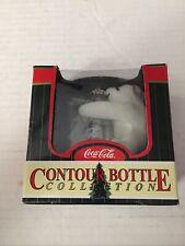 Coca Cola Contour Bottle Collection ornament 1998 Polar Bear Hugging Bottle