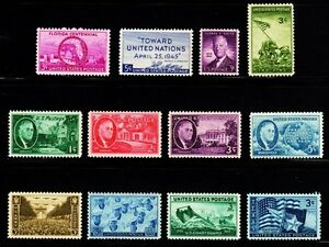 1945 Commemorative Year set (12 Stamps) - MNH