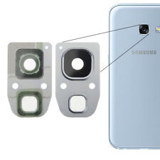 For Samsung Galaxy A3 2017 Rear Back Camera Glass Lens + Frame Cover Silver A320