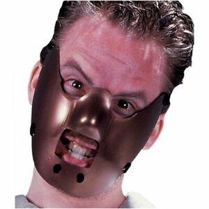 Maximum Restraint Hannibal Lector Insane Asylum Plastic Adult Mask Cannibal