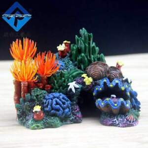 Artificial Coral Display, Bright Color Marine or Fresh Water Fish Tank Ornament
