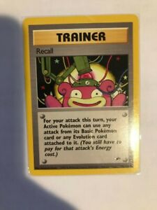 Pokemon Recall Trainer 116/132 Gym Heroes Unlimited NM/M