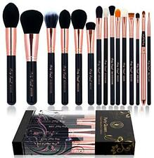 Party Queen 15pcs Makeup Brushes Pro Foundation Powder Kabuki Brush Rose Golden