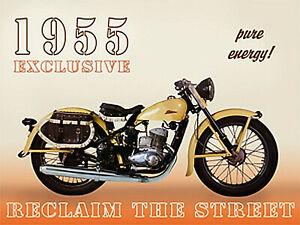 Nostalgic Art 1955 - Motorcycle Pure Energy Street Magnet Kitchen