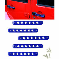 5pcs Blue Front Rear Door Grab Handle Insert Cover Trim For Jeep Wrangler 4 Door