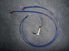 "SPEAKERx2 CABLE 1/4"" 2 M90 SPADE F 3' 12 GAUGE CUSTOM Amp Lead wire cord Guitar"