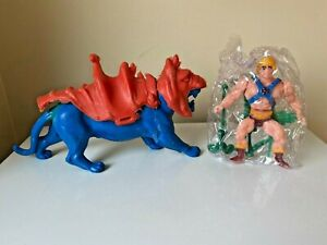 Masters Of The Universe MOTU Mexican Bootleg KO Blue Battle Cat & He-Man