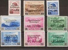 Montenegro, Ocupación Alemana. MNH/MH **/*Yv . 1944. Serie completa (15+85 r so
