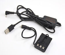 NB-2L usb power adapter cable+ DR-20 dc coupler for Canon G9 S80 EOS 350D 400D