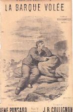 la barque volée chantée par Boudouresque chant seul 1895 Collignon