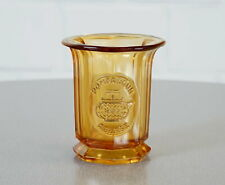 altes Teekanne Pompadour Teeglas Pressglas Bernstein Gelb Art Deco 20er J. RAR
