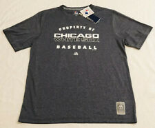 """NWT Chicago White Sox Large Shirt MLB """"SELECT MAJESTIC COLLECTION"""" CoolBase Gray"""