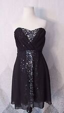 NWT NEW Trixxi Sequin Dress Sz 11 Strapless Black Cocktail Party Holiday LBD