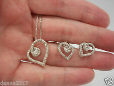 Love's Embrace 1/5ct Diamond Heart 925 Necklace & Earring Set  Kay Jewelers $488