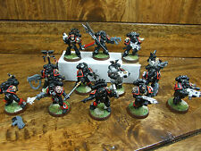 13 NICELY PAINTED AND CONVERTED BLOOD ANGEL DEATH COMPANY MARINES (809)