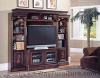 Parker House Huntington Spacesaver Entertainment Center Wall Unit Wood Furniture