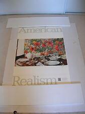AMERICAN REALISM SAN FRANCISCO SFMOMA Exhibition Poster Relic