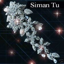 2Die4 Siman Tu  Breathtaking Swarovsky three-dimentional Crystals Brooch