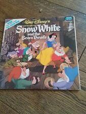 Walt Disney Blancanieves Y Los Siete Enanitos Vinilo Lp Y FOLLETO Exc