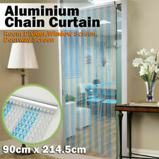 B SQUID EU Metal Chain FLY INSECT DOOR SCREEN CURTAIN ALL GREEN Extra LONG