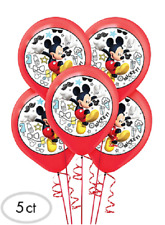 Mickey Mouse Party Balloons 5 Pcs 12 inch With the Roadster Racers