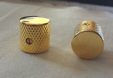 METAL TELE ELECTRIC  GUITAR CONTROL KNOBS VOLUME TONE MIGHTY MITE in GOLD