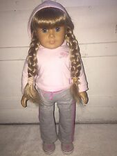 American Girl Kirsten Doll Pleasant Company 2008 Retired Petal Hoodie Outfit