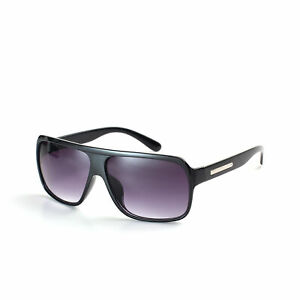 Black Classic Sunglasses Retro Drifter Aviation Topgun Mens Womens 70s 80s