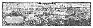 Antique map, Obsidium Haffniense ao. 1658