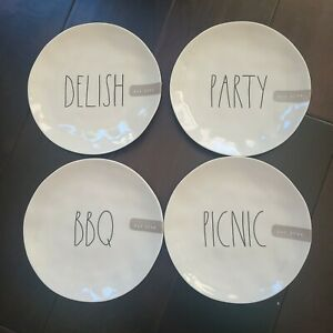 RAE DUNN 8 Inch Melamine Plate - Choose PICNIC BBQ DELISH - Brand New