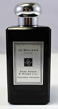 Jo Malone Dark Amber & Ginger Lily 3.4 Oz Eau De Cologne Intense NEW NO BOX