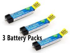 E-flite 150mAh 1S 3.7V 45C LiPo Battery 3 Pcs : BLADE NCPX NANO QX MSRX PARKZONE