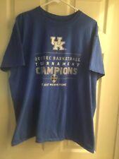 Kentucky Wildcats 2017 SEC Tournament Champions Blue T-Shirt Size 2XL