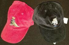 New Polo Ralph Lauren boy's REd BLACK corduroy BEAR baseball hat cap