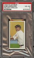 1909-11 T206 HOF Rube Marquard Follow Through Polar Bear New York PSA 4 VG-EX !!