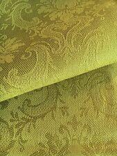 Jacquard Leinen Tischdecke 147x300 cm Olivgrün Blumenmuster