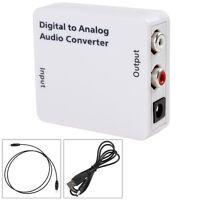 Digital zu Cinch Analog Audio Konverter Wandler Adapter Toslink Koaxial RCA L/R