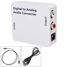 numérique pour RCA ANALOGIQUE CONVERTISSEUR AUDIO Adaptateur Toslink Coaxial L /