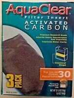 AquaClear 30 (150) 3-pack Aquarium Filter Carbon A-1382 A1382