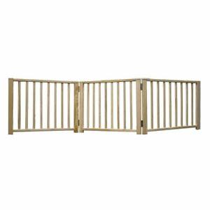 "Four Paws Smart Design Folding Freestanding Gate 3 Panel Beige 24"" - 68"" x 1"" x"