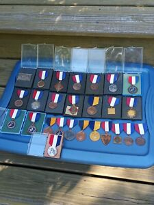 Lot Of 26 Fencing Medals 1970s