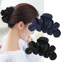 Big Flower Matte Hair Claws Women  Hair Claw Glossy Hair Accessories