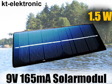 1 Stück 9V 165mA 1,5W 180x70mm Solarmodul Solarzelle Monokristallin vergossen