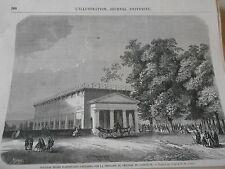 Gravure 1863 - Nouveaux Musée d'antiquités Gauloises chateau compiègne