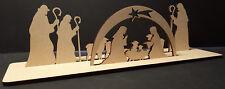 Natividad Escena Mdf 2 modelo de forma de Artesanía Decoración de Navidad de Jesus Mary