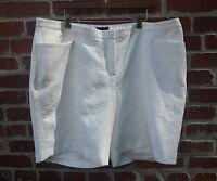 Lane Bryant Shorts Size 22 Dressy Brocade Textured Ivory Bermuda Shorts