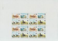 F-EX14587 AZERBAIJAN RUSSIA 1994 MNH PROOF IMPERF SHEET WWF BIRDS, ONLY 5 ISSUE.